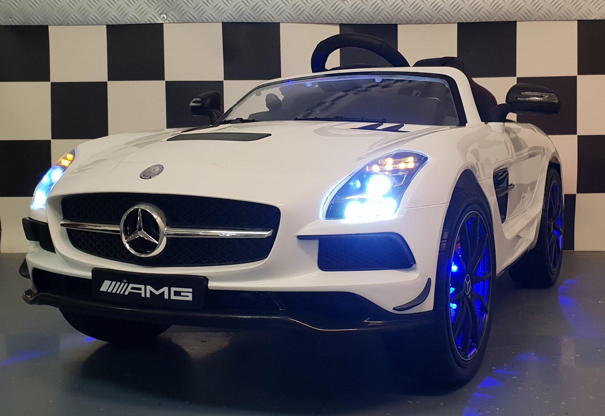 Kinderauto Mercedes SLS 12V 2.4G RC Mp4 met afstandbediening