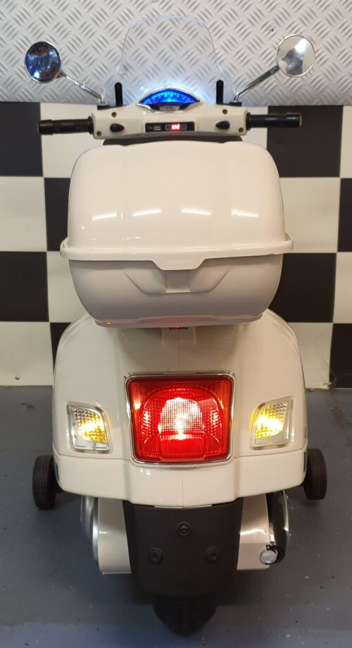 kinderscooter vespa wit
