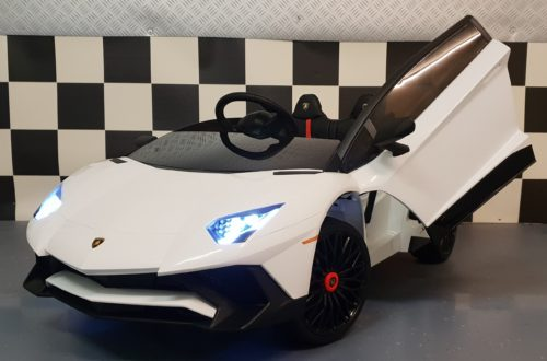 Lamborghini Roadster SV kinderauto wit