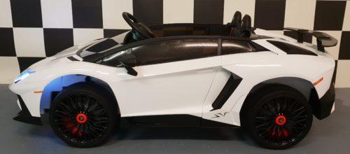 Witte Lamborghini kinderauto 12 volt 2.4 G afstandbediening