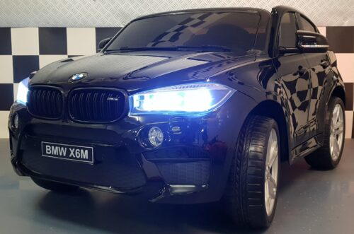 BMW X6 M kinderauto metallic zwart