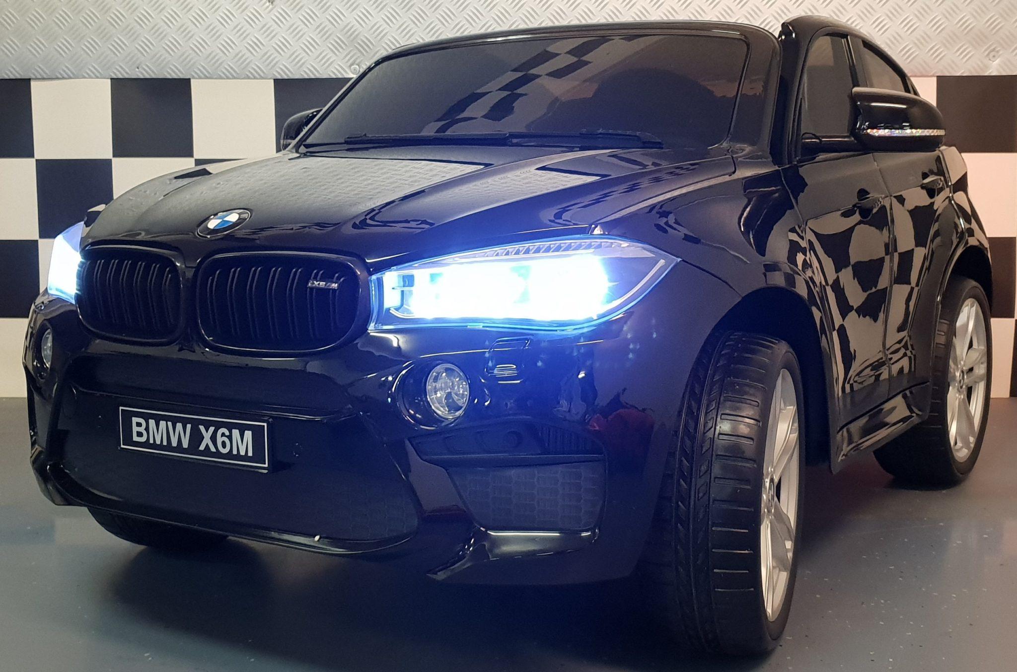 Elektrische kinderauto BMW X6 2 persoons 12volt metallic zwart