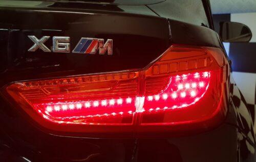 X6 M kinder accu auto metallic zwart