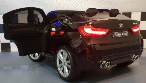 Kinderauto BMW X6 zwart 12V 2.4G RC bediening