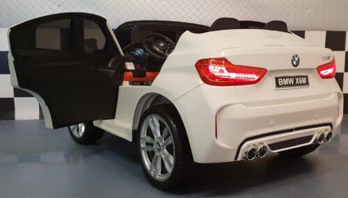BMW X6 M serie witte kinderauto 12 volt