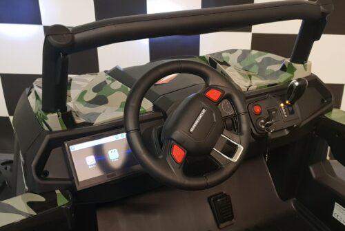 Dashboard buggy kinderjeep camouflage