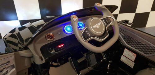 Dashboard elektrische kinderauto Bentley EXP zwart
