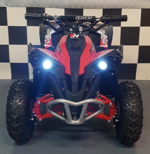 Elektrische 48v mini quad rood