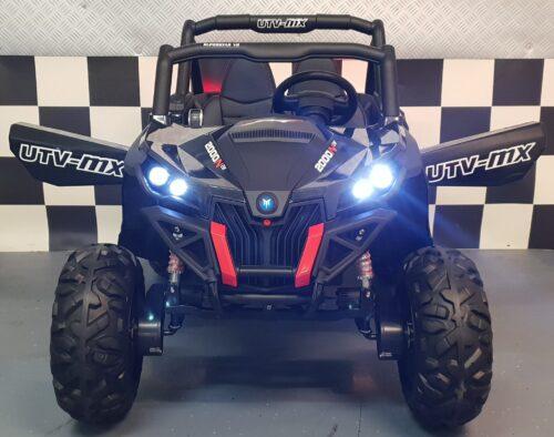 Elektrische 4WD kinderbuggy 2x12V 2.4G Carbon