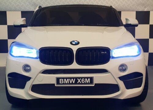 Elektrische BMW X6 M wit kinderauto 12 volt