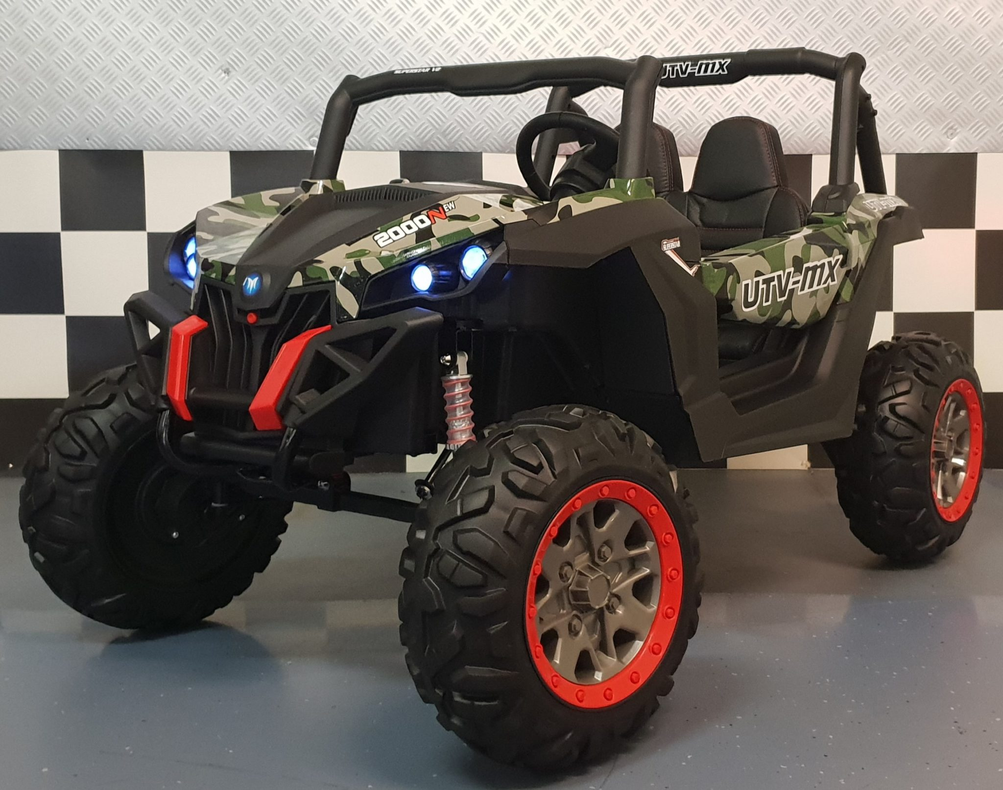 Buggy 2 persoons kinderauto Camouflage 2x12V 4WD 2.4G RC