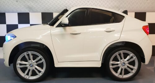 Kidnerauto BMW X6 M 2 persoons 12 volt wit