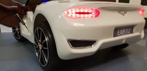 Witte Bentley EXP speelgoedauto 12 volt