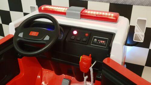 dashboard elektrische kinder brandweertruck