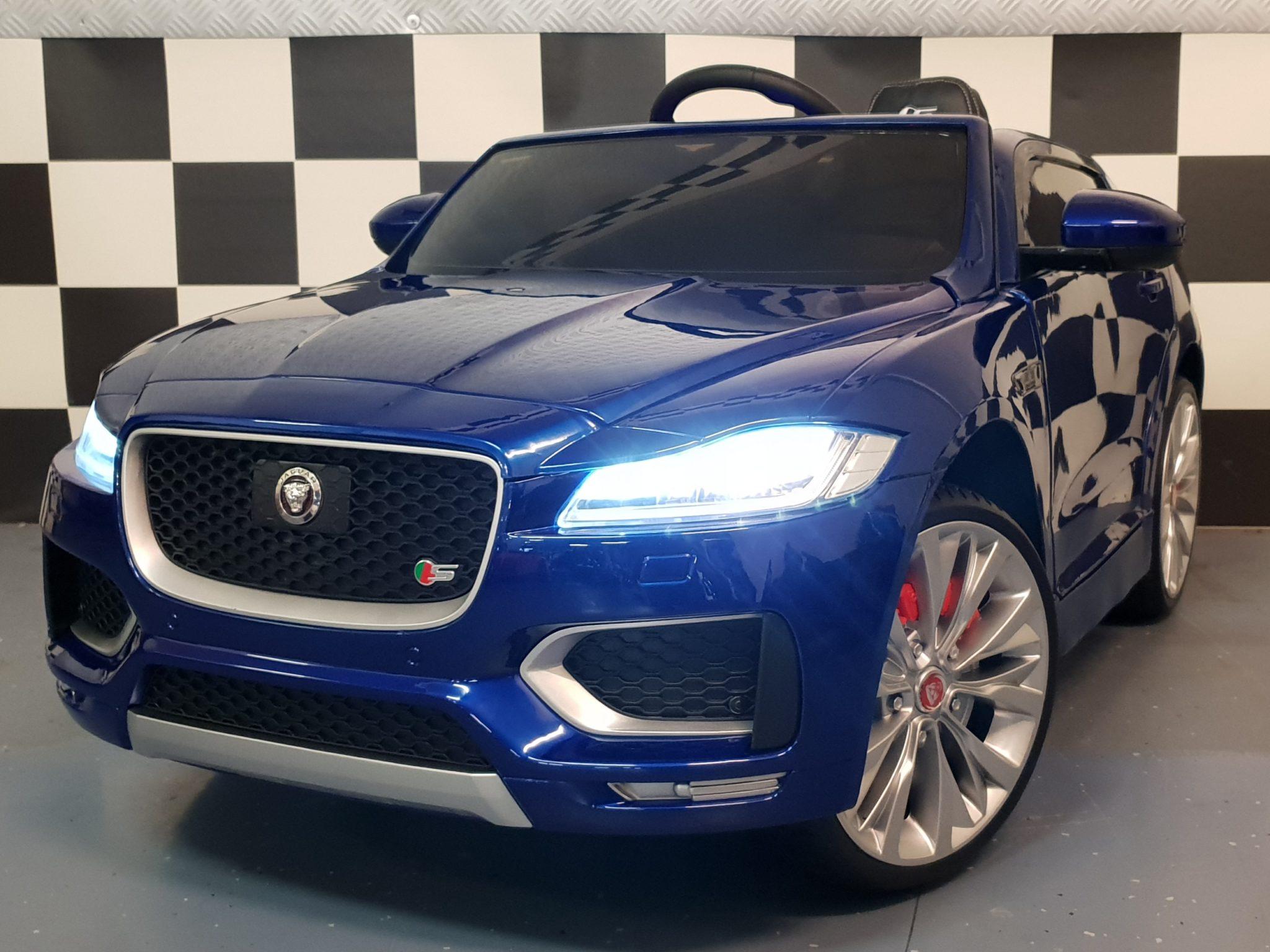 Elektrische Kinderauto Jaguar F-Pace 12V 2.4G RC metallic blauw