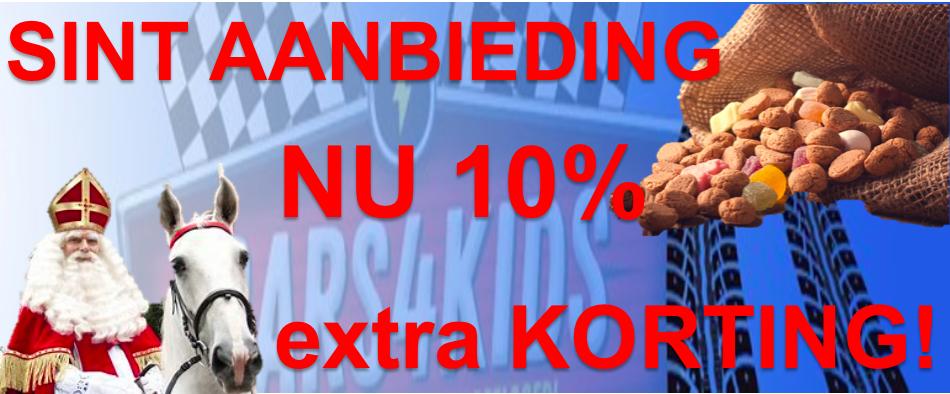 Sinterklaas actie nu 10% extra korting