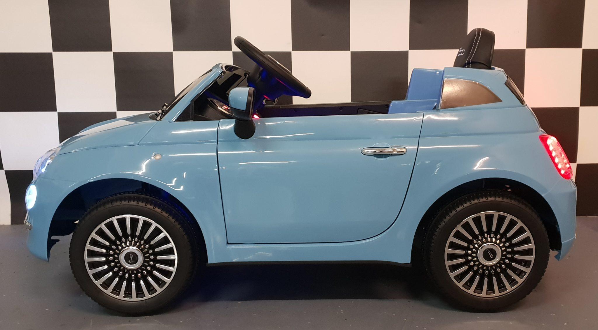 Elektrische Accu Kinder Auto Fiat 500 Met Afstandbediening Cars4kids