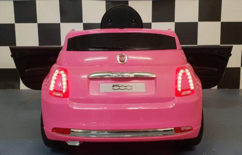 fiat roze kinder accu speelgoedauto