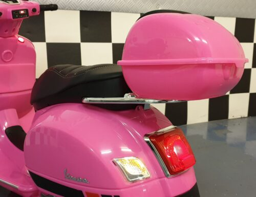 vespa elektrische kinder scooter roze