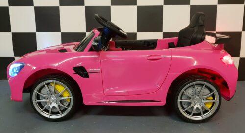 Mercedes speelgoed accu auto roze