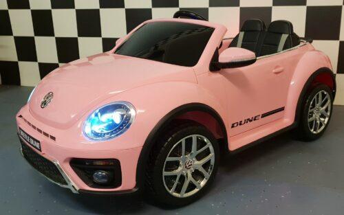vw kinder accu auto roze