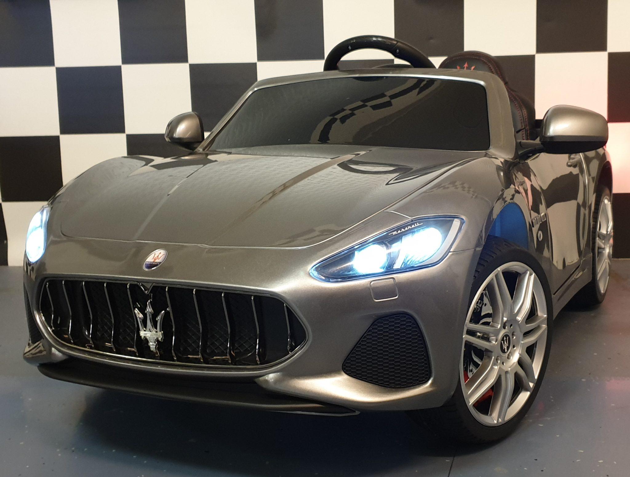 Maserati Grand Cabrio accu kinderauto 12V metallic grijs