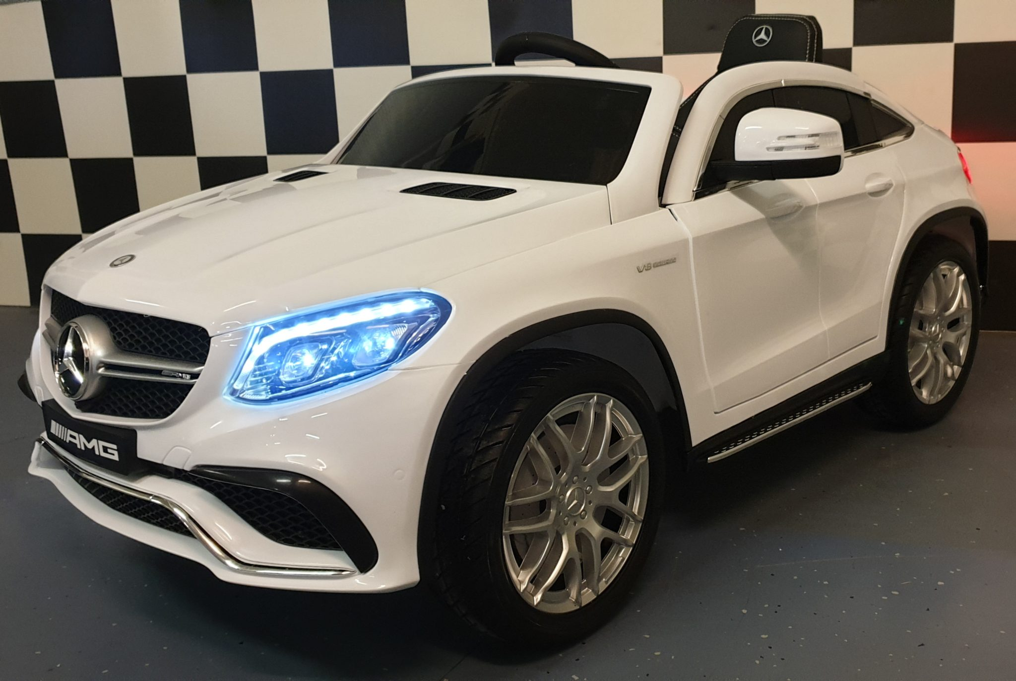 Accu speelgoedauto Mercedes GLE AMG 12 volt 2.4G RC Cars4kids