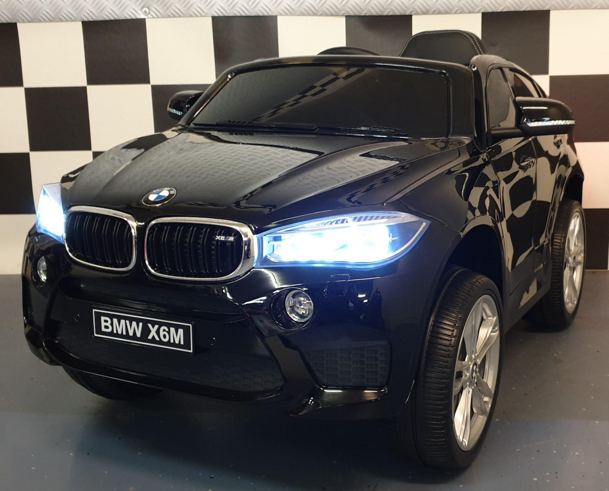 Kinder accu speelgoedauto BMW X6 M Zwart 12V 2.4G afstandbediening soft start