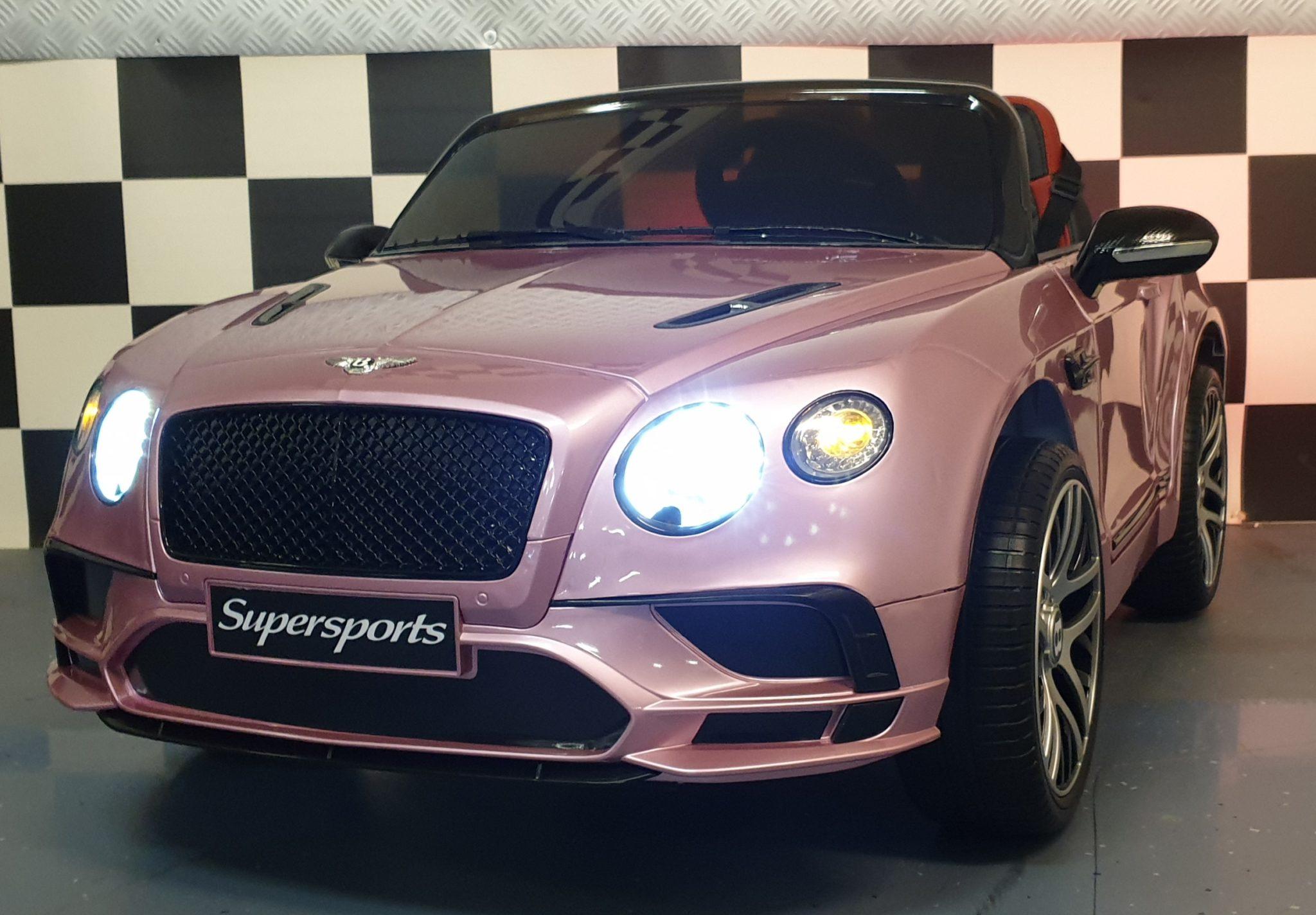 Kinder accu speelgoedauto Bentley Continental 2.4G Rc Metallic Roze