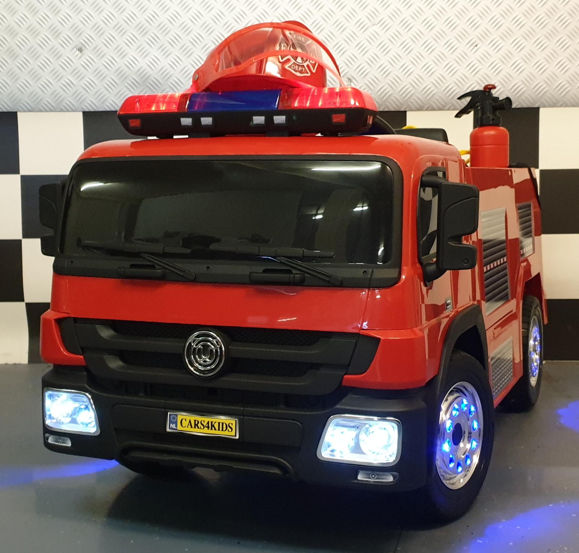 Elektrische kinderauto brandweer truck 12 volt met 2,4 G RC brandweerwagen