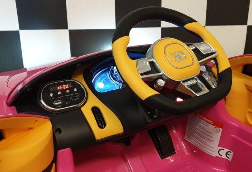 accu kinder auto roze bugatti