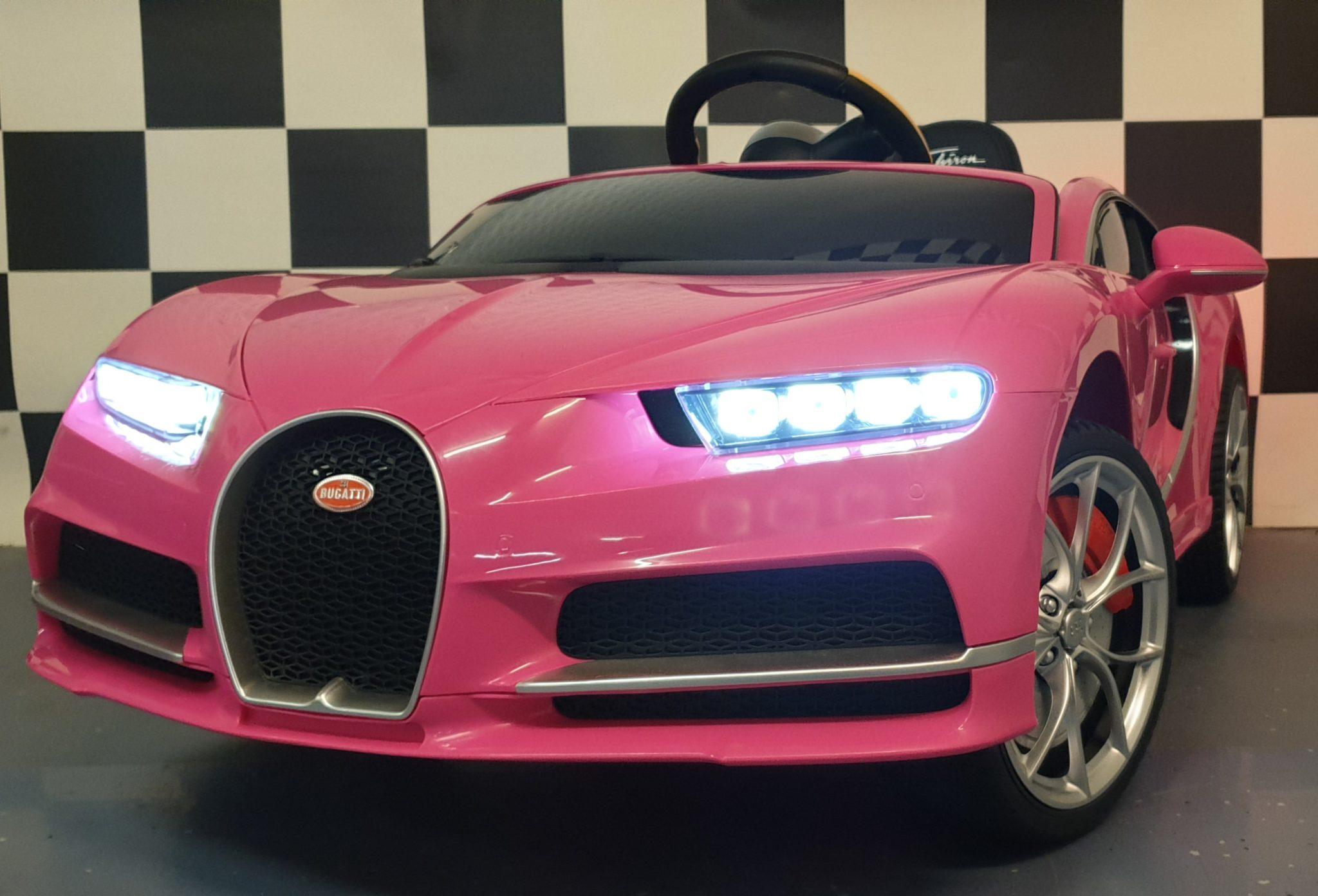 Accu Kinderauto Bugatti Chiron roze 2.4G RC 12 volt