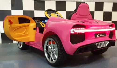 bugatti roze accu kinderauto