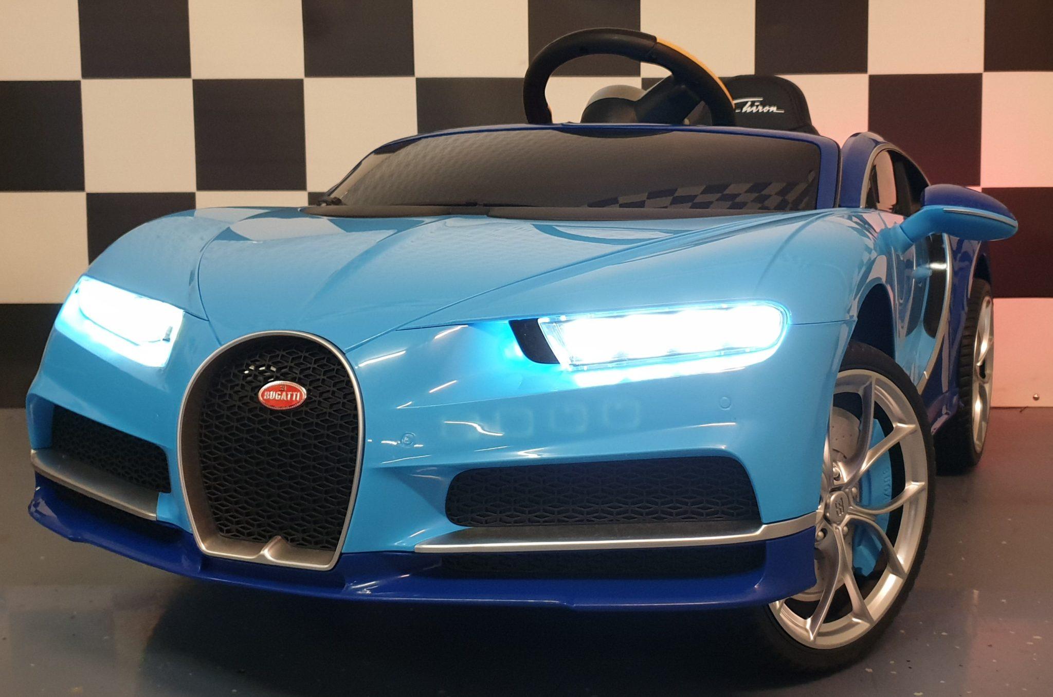 Elektrische speelgoedauto Bugatti Chiron blauw 12 volt