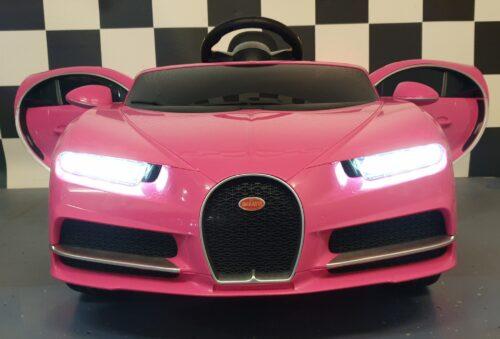 kinder accu auto bugatti roze