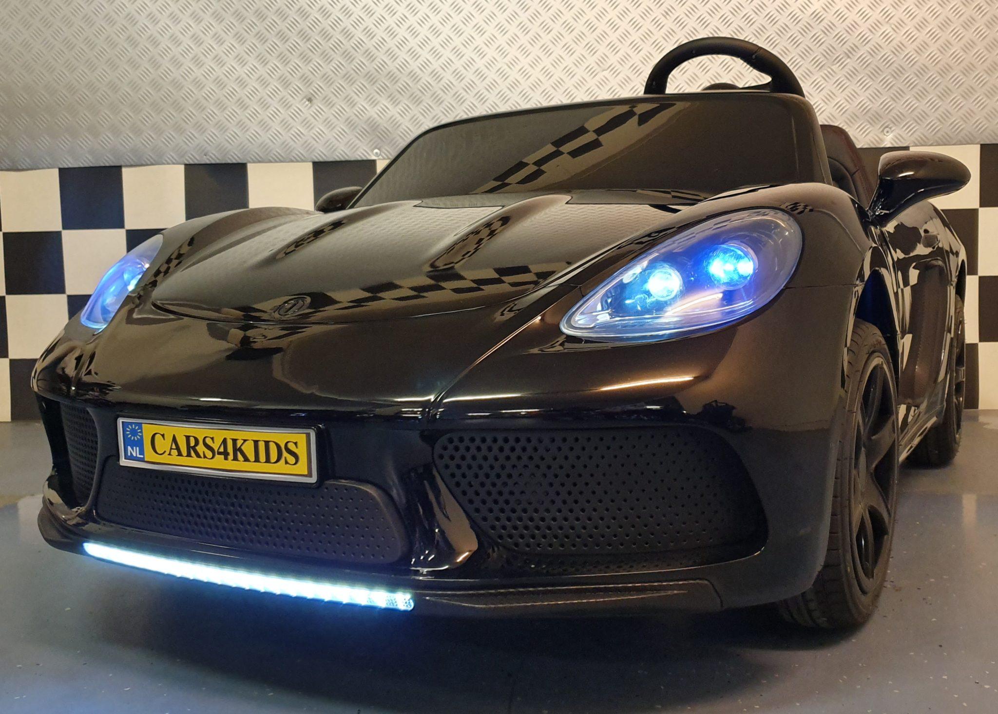 Accu kinderauto 24 volt 2 persoons met brushless motor Metallic zwart