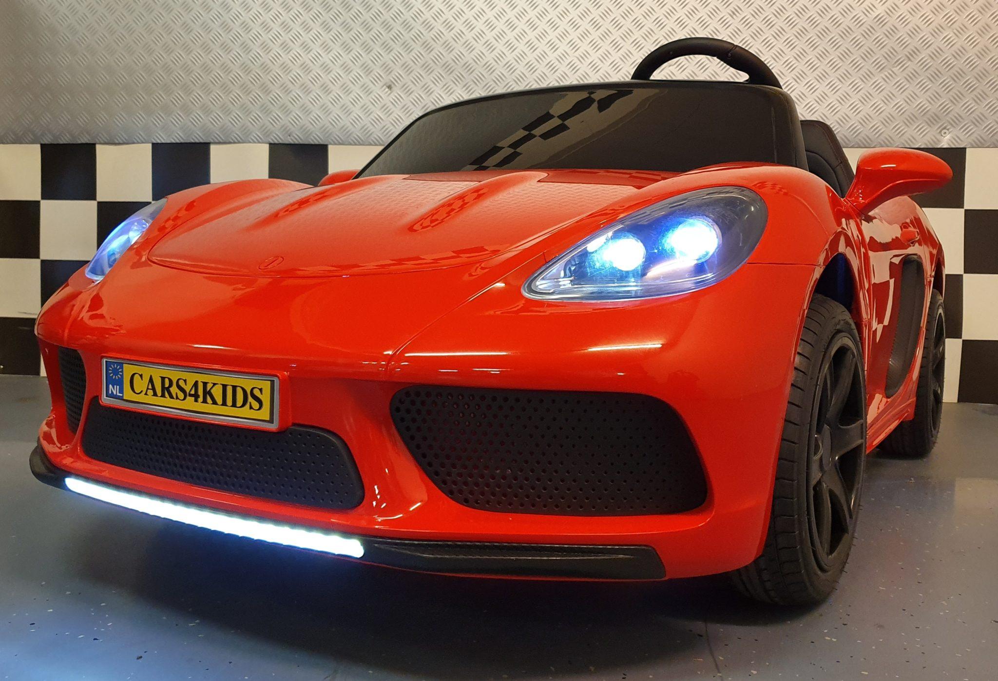 kinderauto 24 volt voor 2 kinderen vanaf 6 jaar Metallic rood