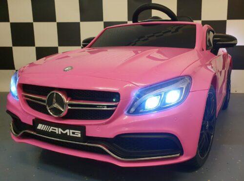 kinderauto mercedes c63 roze