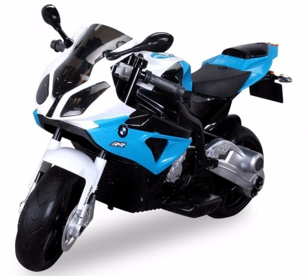 Elektrische kindermotor BMW S1000 12 volt 2 snelheden blauw