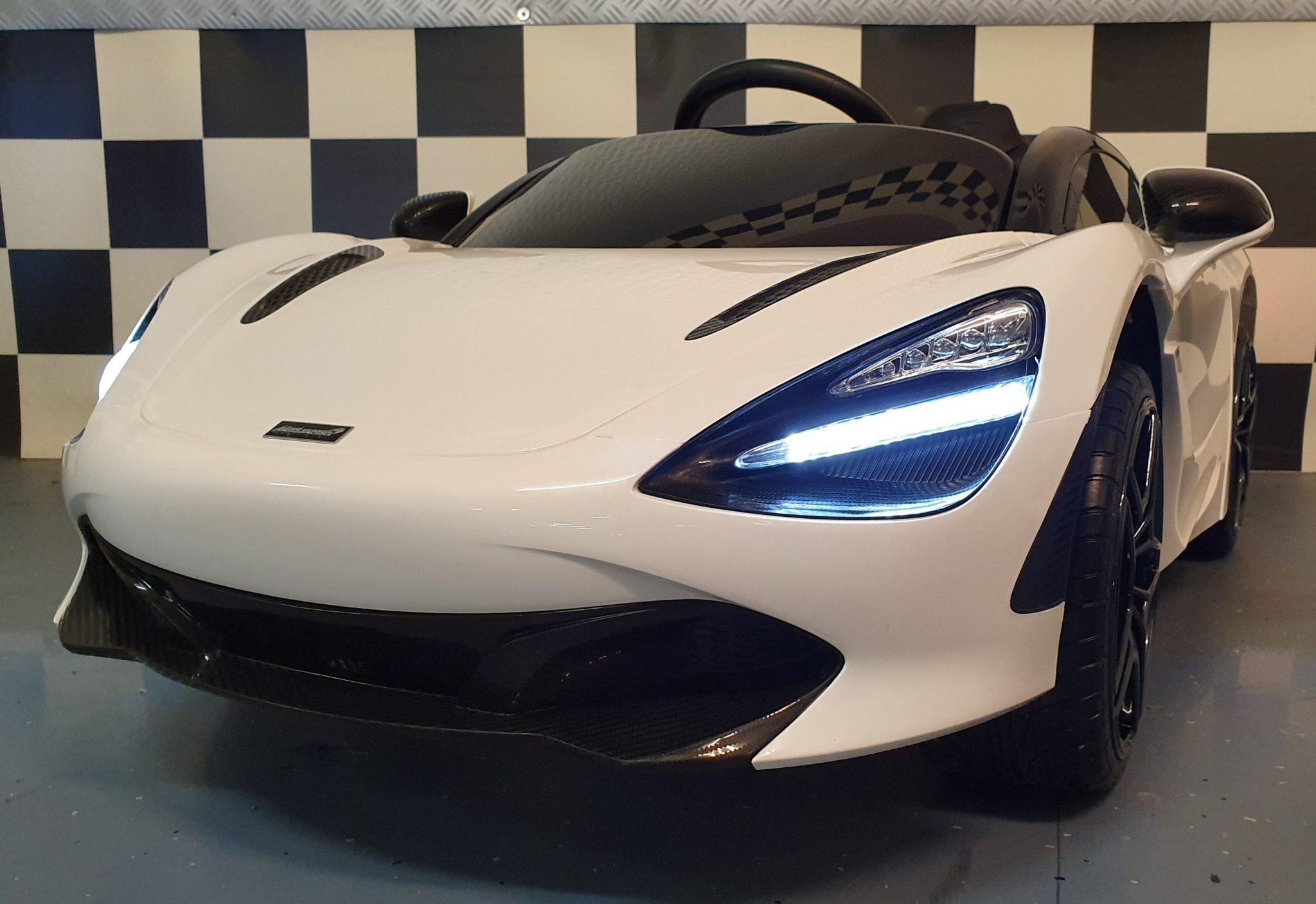 Kinderauto McLaren 720S elektrische accu kinderauto 12V 2.4G RC wit