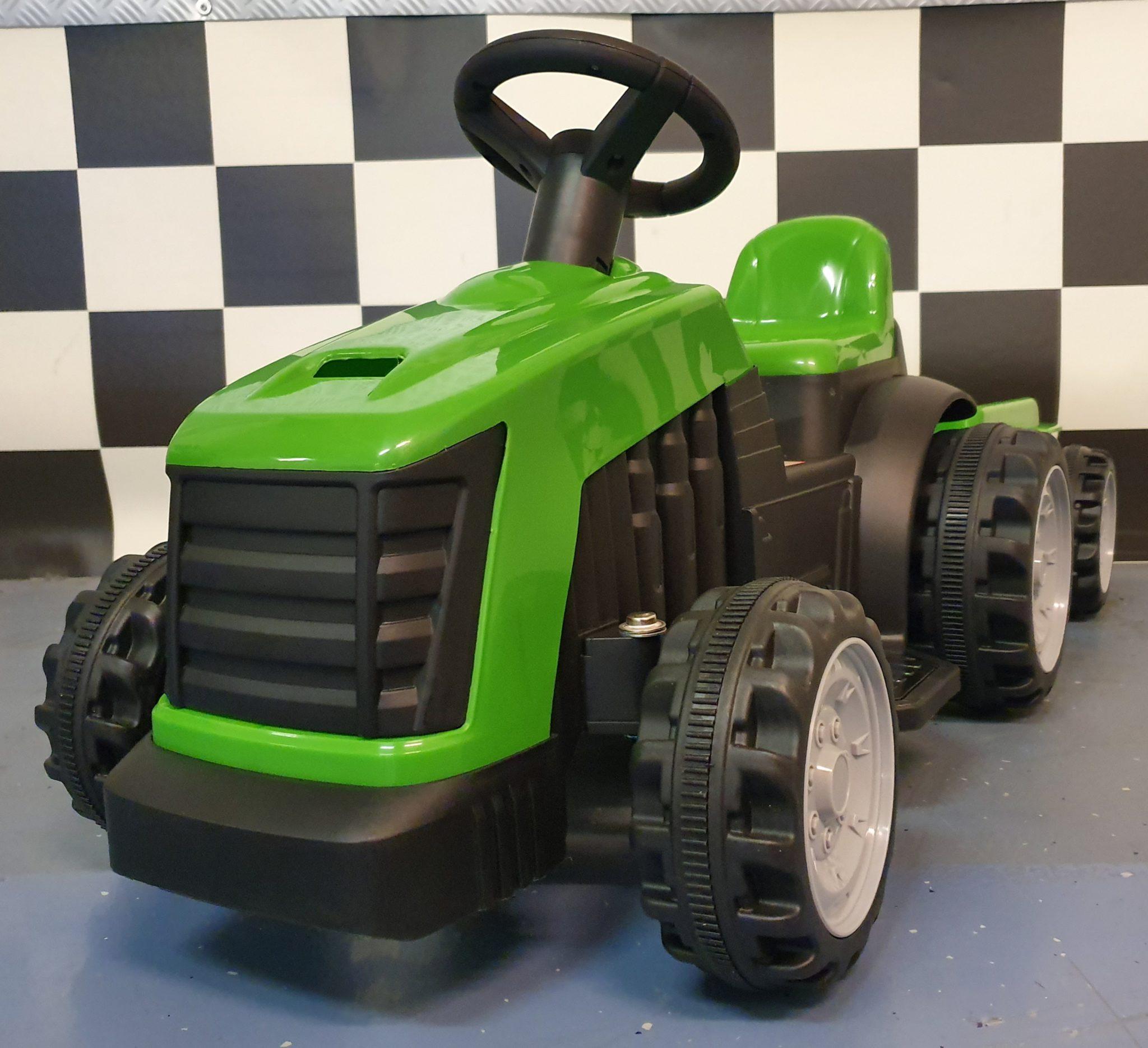 Elektrische kinder tractor 6 volt groen