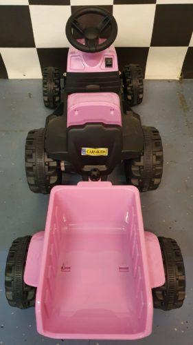 Kinder tractor roze