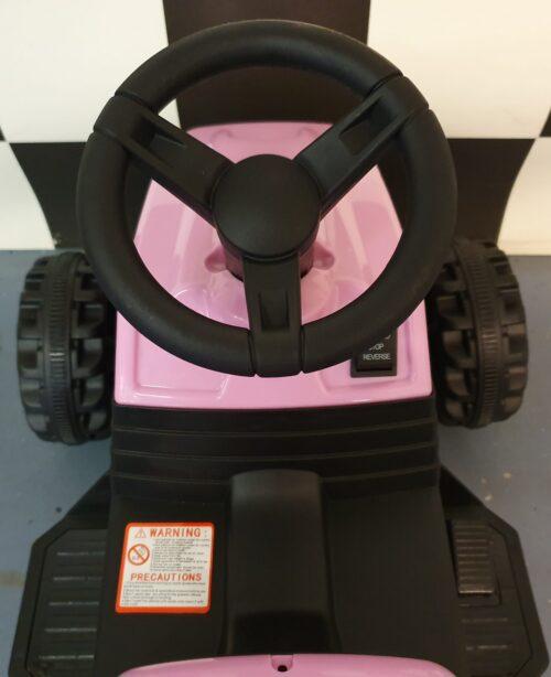 Kinder tractor roze 6volt
