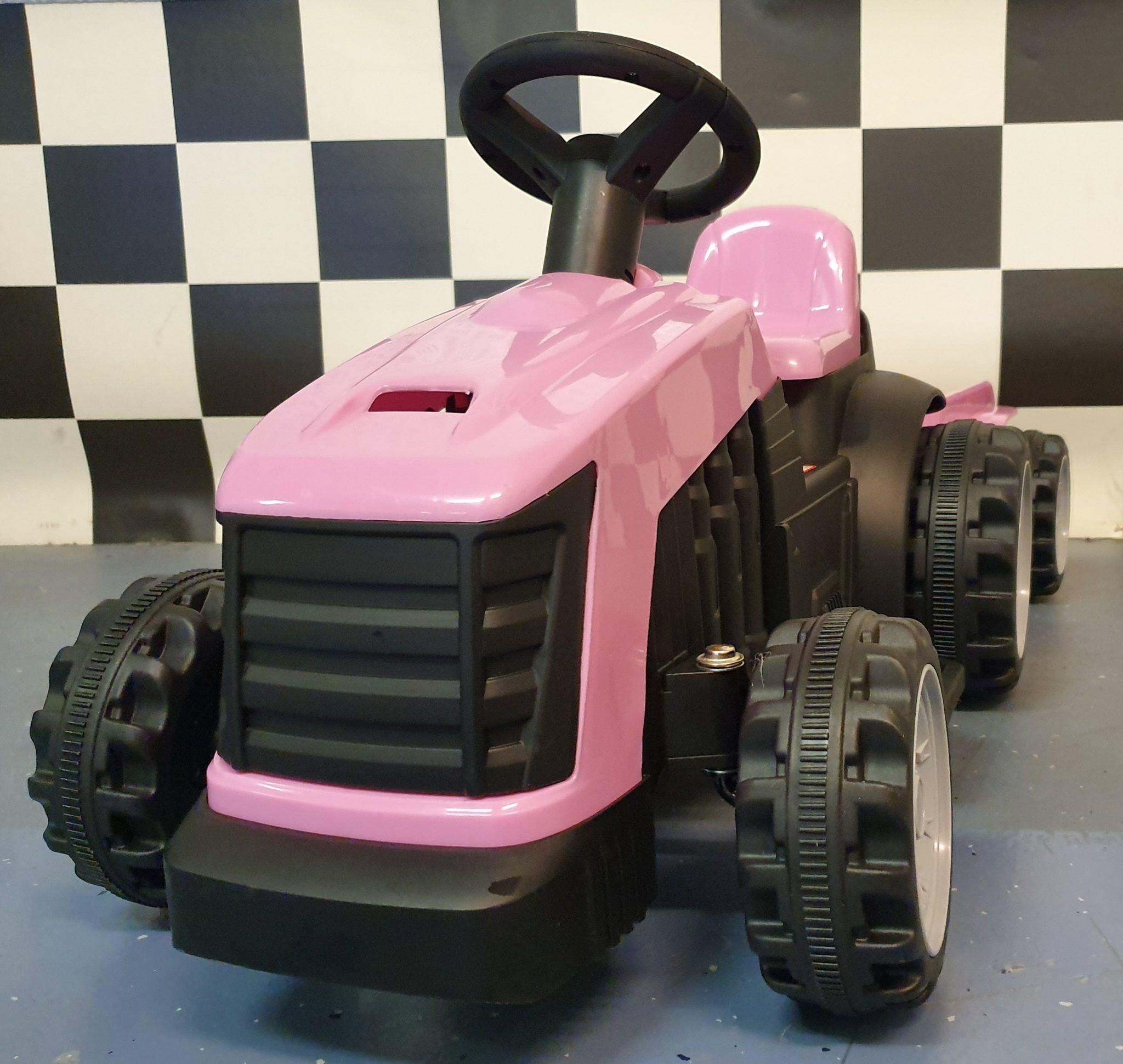 Elektrische kindertractor roze 6 volt