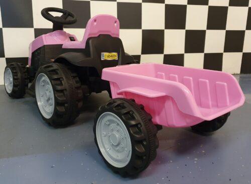 Tractor voor kinderen roze