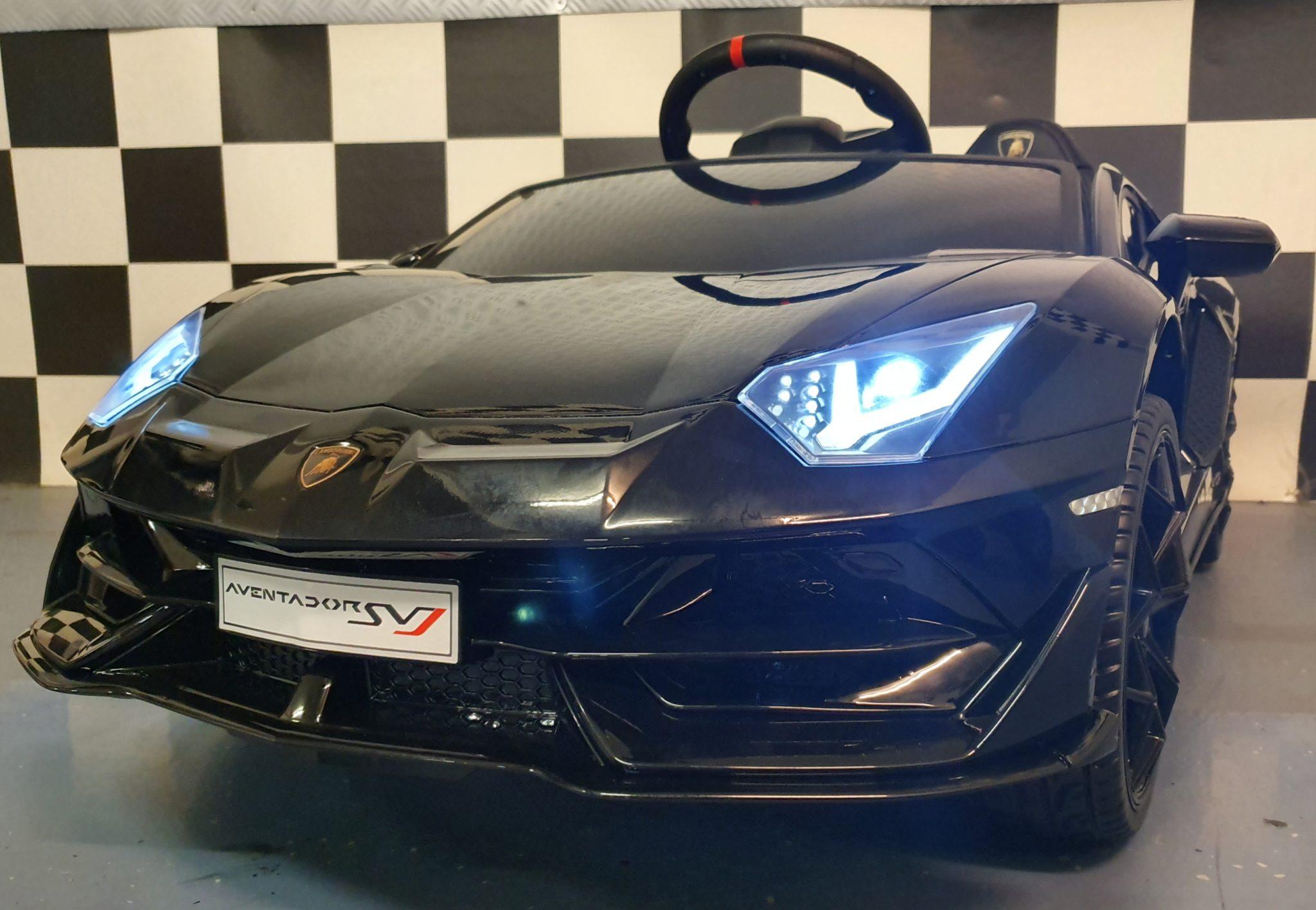 Accu kinderauto Lamborghini Aventador 12Volt metallic zwart