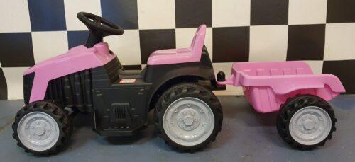 elektrische kinder tractor roze