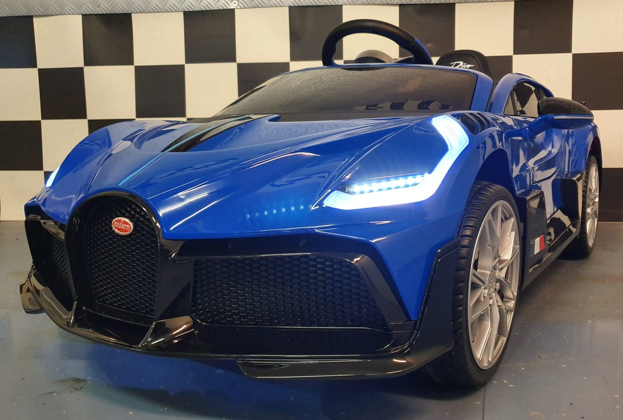 Kinderauto Bugatti Divo Blauw 2.4G afstandsbediening 12 volt