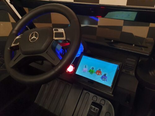 kinderauto met mp4 scherm