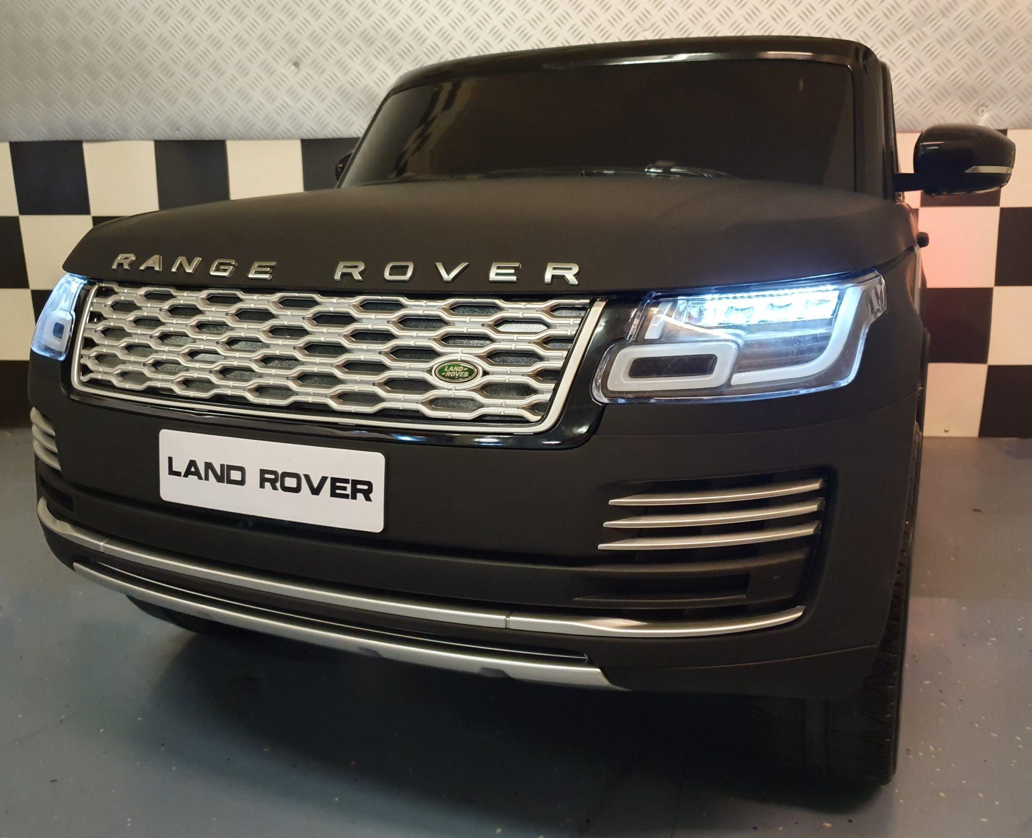 Elektrische kinderauto Range Rover HSE Sport 2 persoons 12V 4 motoren en MP4 mat zwart